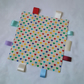 Tagged blanket, baby comforter, cream, suitable for girl and boy, sleep aid,