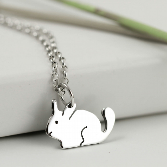 Chinchilla Necklace in Sterling Silver