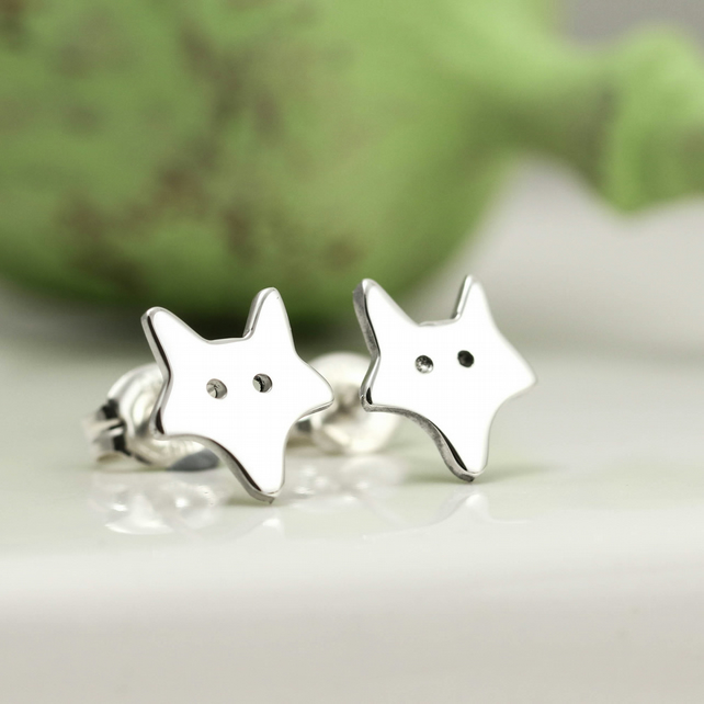 Little Silver Fox Earrings