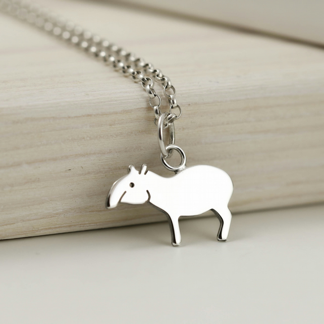 Tapir Necklace in Sterling Silver