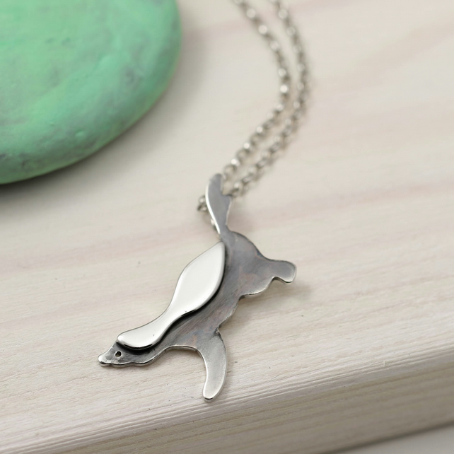 Honey Badger Necklace in Sterling Silver
