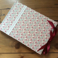 Fabric Covered Handmade Wedding Guest Book