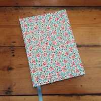 Large Handbound Notebook in a Cottage Garden Print