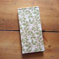 Handmade Jotter Notebook In a Vine Fabric