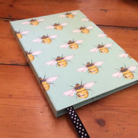 Large Notebook Covered in a Bee Desgn Fabric