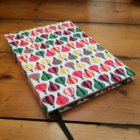 Large Handmade Notebook Covered in a Balloon Fabric