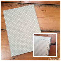 Large Fabric Covered Address Book