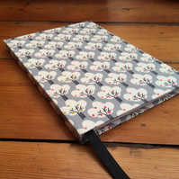 Large Fabric Covered Handbound Notebook