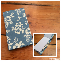 Handbound Blue Floral Jotter Notebook with Pencil