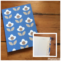 Large Address Book Covered in a Louise Brainwood Fabric