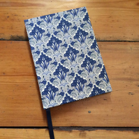 Small Fabric Covered Handbound Notebook