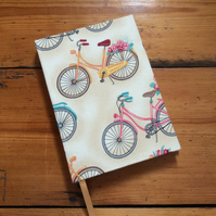 Small Notebook in a Bicycle Fabric