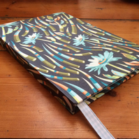 Handmade Notebook covered in a Striking Daisy Fabric