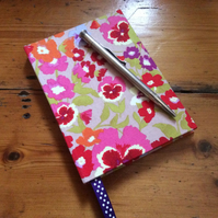 Small Handmade Notebook Covered in a Nel Whatmore Fabric