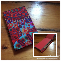 Handbound Jotter Notebook Covered in a Kaffe Fassett Fabric