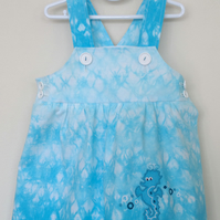Tie Dye sundress with seahorse applique
