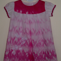 Tie Dye Best Dress with embroidered flowers