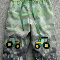Pull-up Trousers with Tractor applique