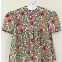 Floral Short Sleeved Tunic - Top