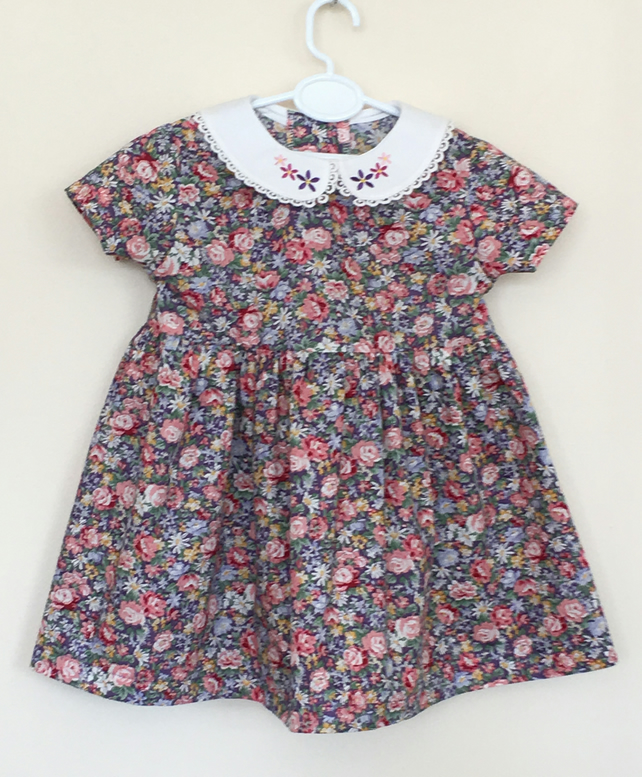Vintage Floral Cotton Dress