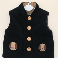 Gilet with Puppy Applique
