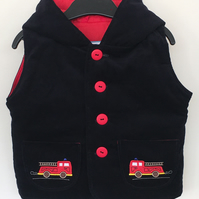 Gilet with Fire Engine Applique