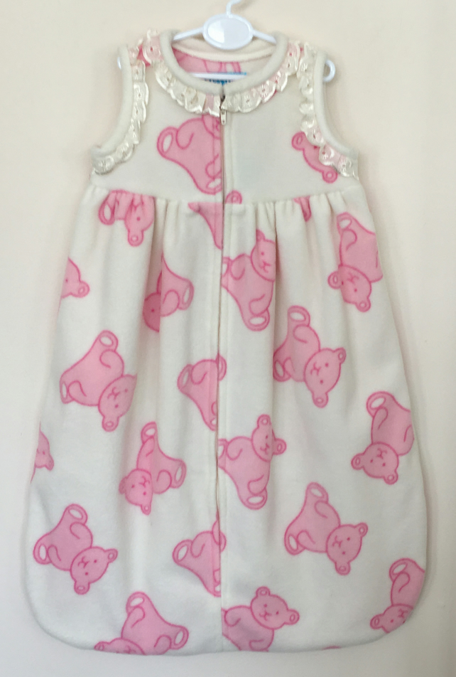 Sleepsuit with Pink Teddies.