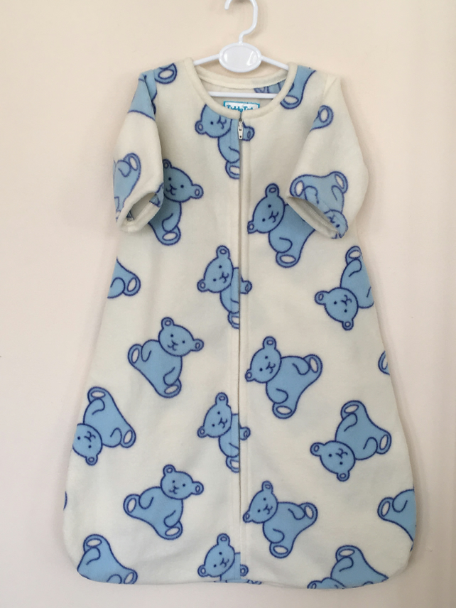 Sleepsuit with Blue Teddies