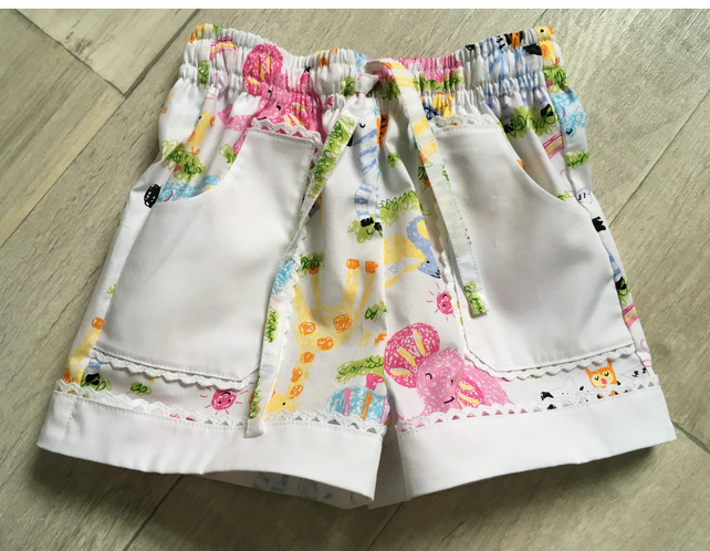 Pink Elephant Play Shorts