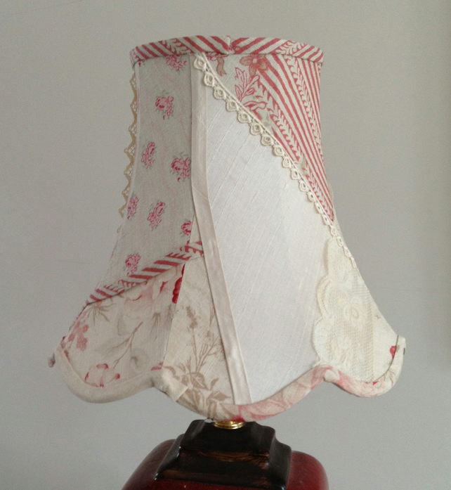 Scalloped Table Lampshade In Linen Silk And Lac Folksy