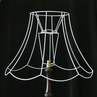 Lampshade making service including recovering clients own frames