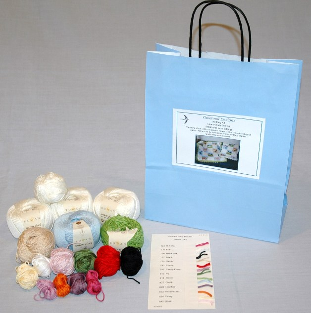 Country Baby Blanket Knitting Kit small size 45cm x 60cm