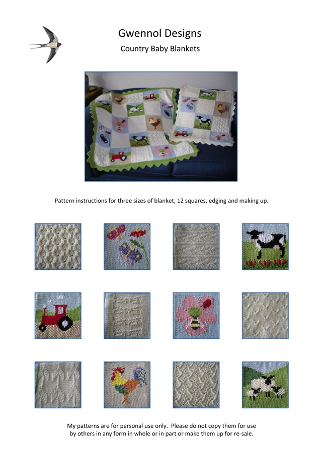 Country Baby Blankets PDF Knitting Pattern