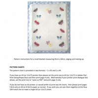 Butterflies Baby Blanket PDF Knitting Pattern