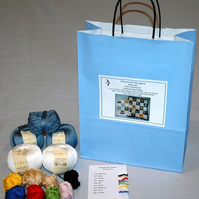 Seaside Baby Blanket Knitting Kit small size 45cm x 60cm