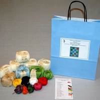 Country Number  Baby Blanket Knitting Kit size 60cm x 75cm