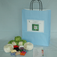Country Cushion Cover Knitting Kit 35cm x 35cm