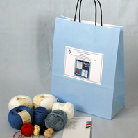 Seaside Cushion Cover Knitting Kit 35cm x 35 cm