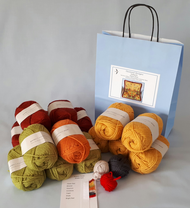 Autumn Throw Knitting Kit 102cm x 102cm