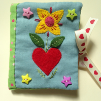 Folk art needle case
