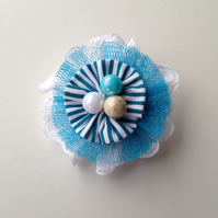 Lace and fabric corsage