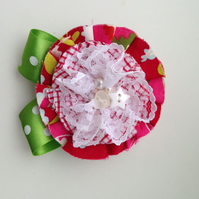 Rosette style corsage