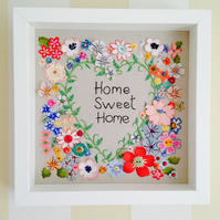 New Home Fabric and embroidered picture