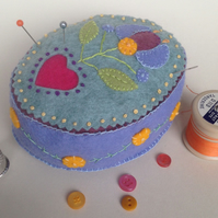 Oval Folk-Art Pincushion