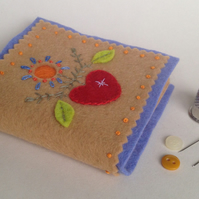 Folk-Art Wool Felt Needle-Case