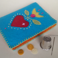 Turquoise Folk-Art Needle-Case