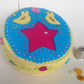 Yellow and Turquoise Folk-Art Pincushion