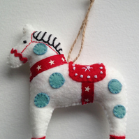 Christmas Dala HorseTree Decoration