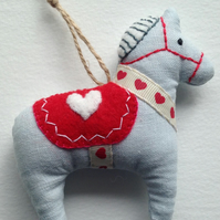 Christmas Dala Horse Tree Decoration