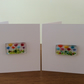 Fused Glass Multicoloured Flowers Birthday Anniversary Thank You Card